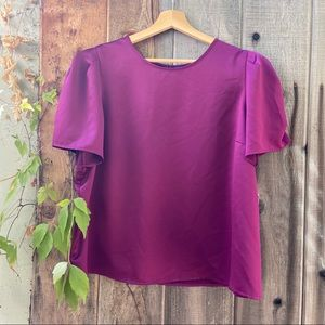 Orchid Puff Sleeve Blouse 🌺